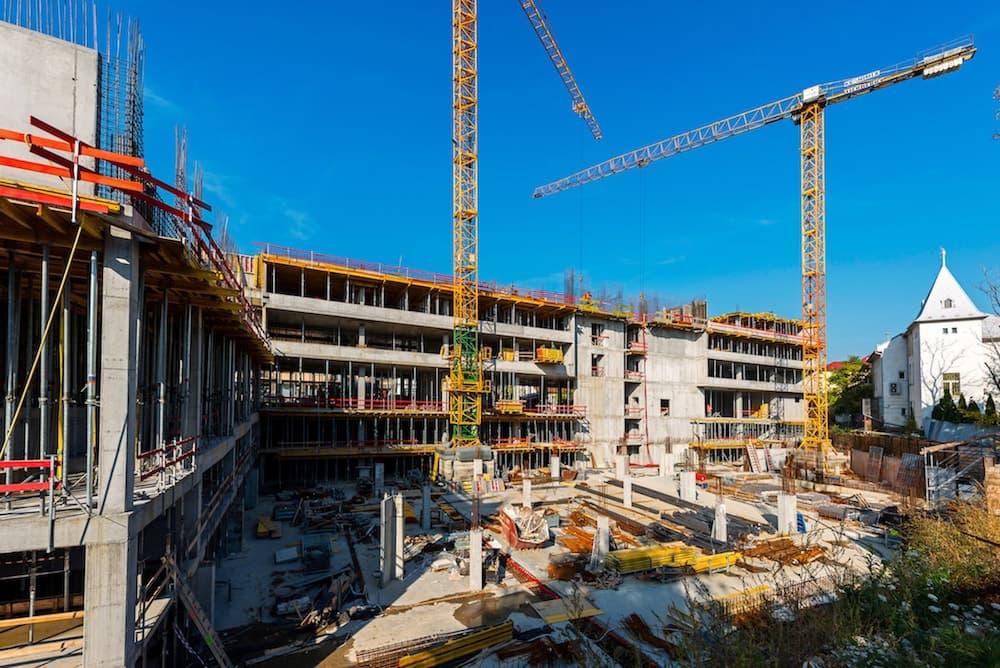 rezidencia Blumentál počas výstavby