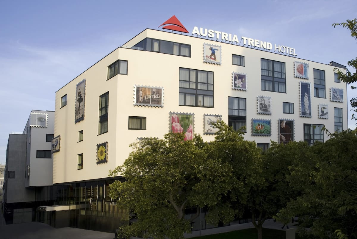 hrubá stavba Austia Trend hotel
