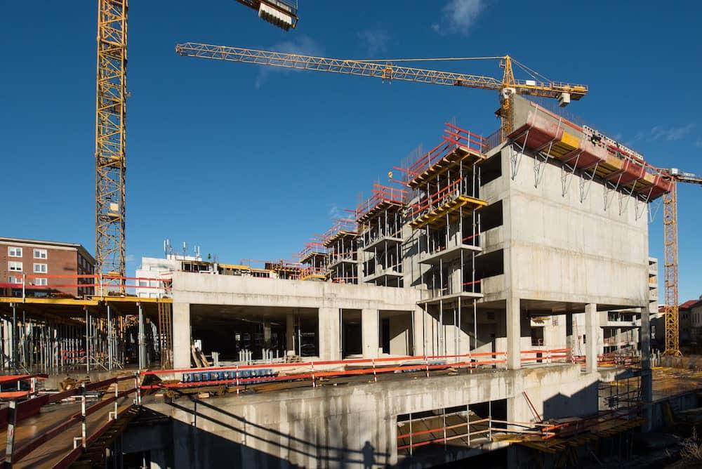 výstavba hrubje stavby Blumentál