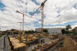 výstavba hrubej stavby Blumentál