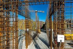 monolitické železobetónové konštrukcie počas výstavby Nuppu