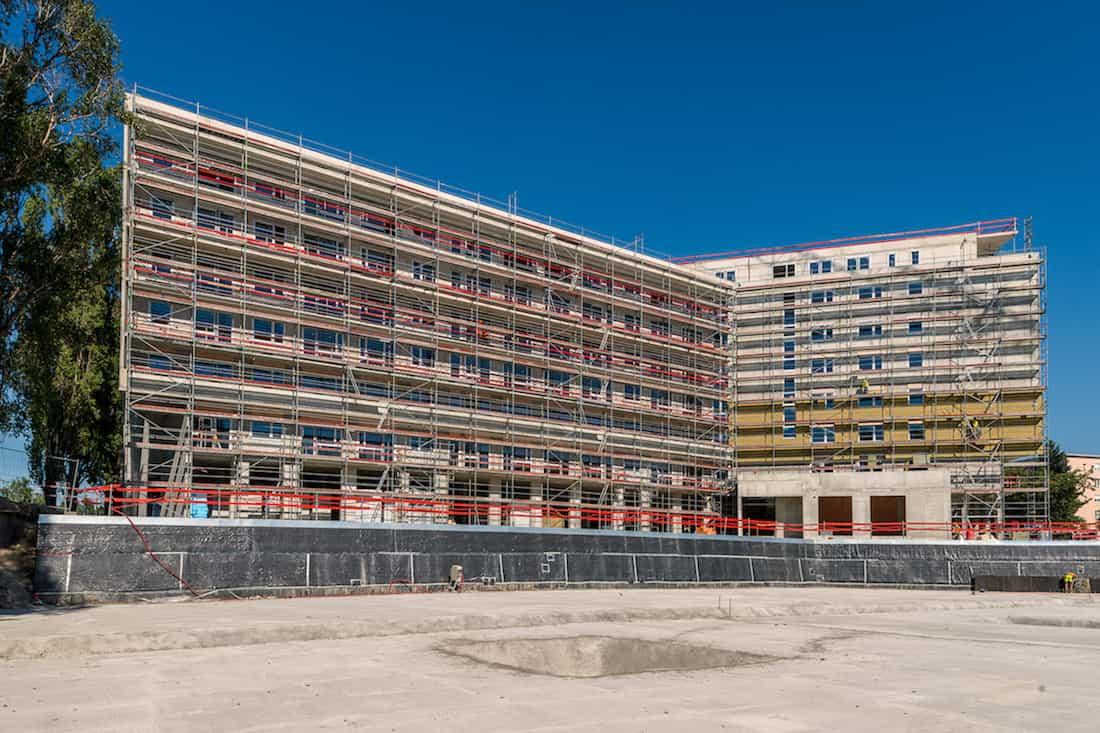 hrubá stavba objektu Lilja na projekte Nuppu, Bratislava