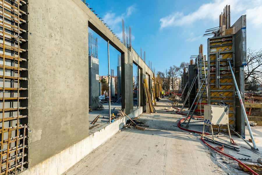 počas výstavby hrubej stavby objektu Lilja, Nuppu