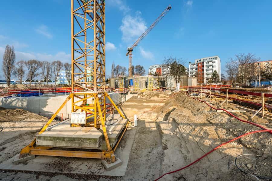 stavebné práce na základoch objektu Lilja na projekte Nuppu, Bratislava