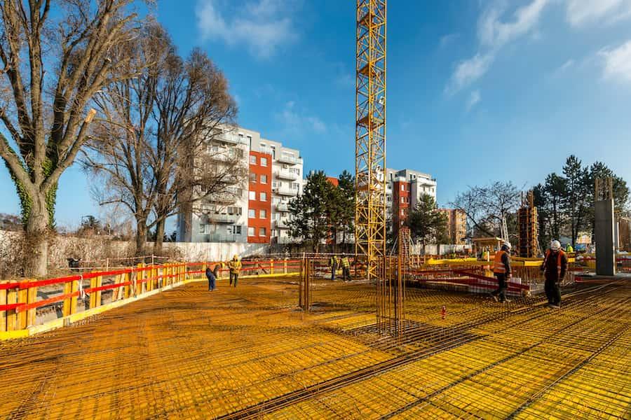 stavebné práce na hrubej stavbe objektu Lilja, Nuppu