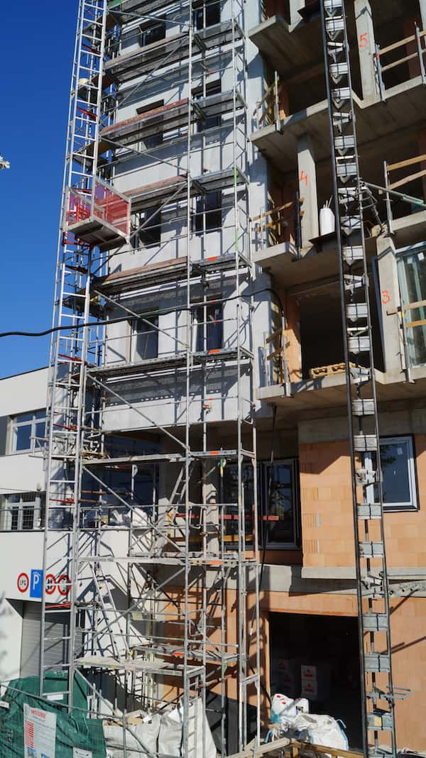 detail lešenia na stavbe - Panónka