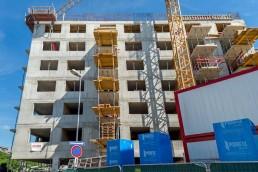 kocelova počas výstavby hrubej stavby